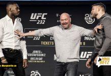 UFC 232 Alexander Gustafsson vs Jon Jones staredown
