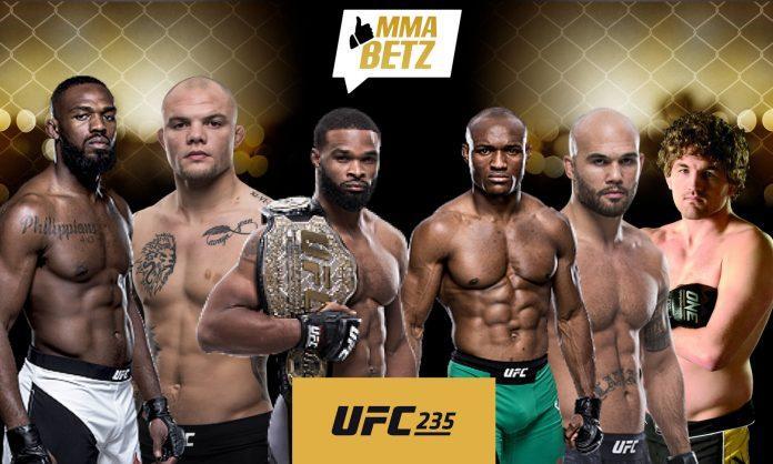 UFC 235 Fightcard with Jones, Smith, Woodley, Usman, Askren, Lawler