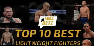 MMABETZ list of the best lightweight fighters in MMA and UFC