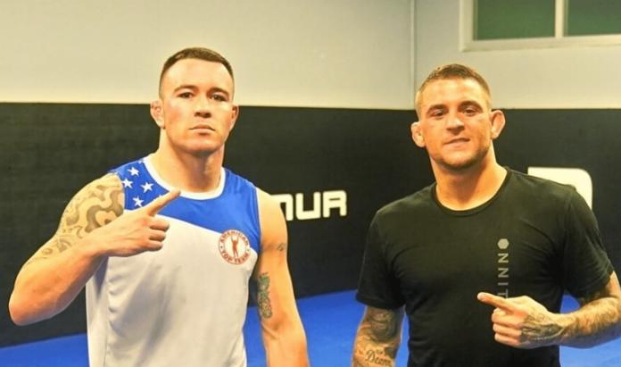 UFC Dustin Poirier and Colby Covington