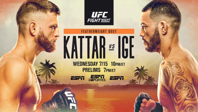 UFC Fight Island 1 results: Kattar vs Ige