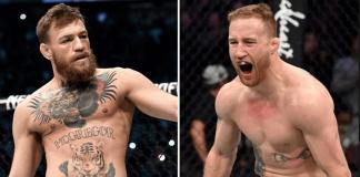 UFC Conor McGregor and Justin Gaethje