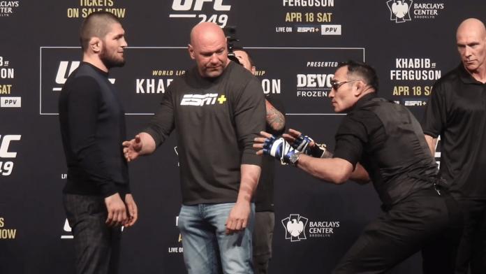 UFC Khabib Nurmagomedov and Tony Ferguson