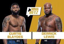 UFC Curtis Blaydes vs Derrick Lewis