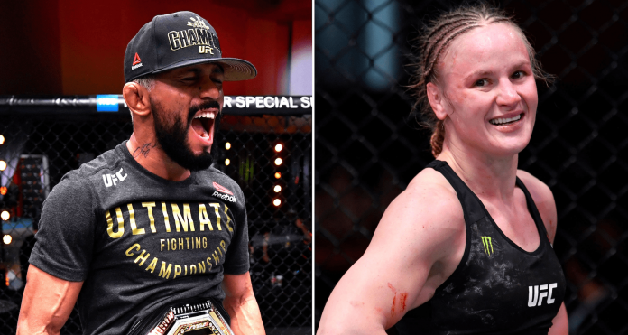 UFC 255 Deiveson Figueiredo and Valentina Shevchenko