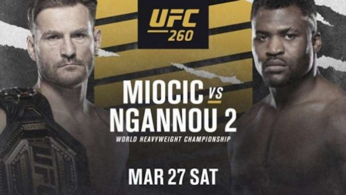 UFC 260 results Miocic vs Ngannou