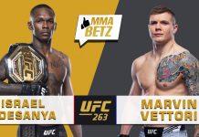 UFC 263 Israel Adesanya vs Marvin Vettori